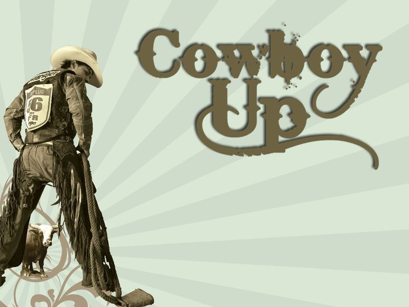 Cowboy up screen copy