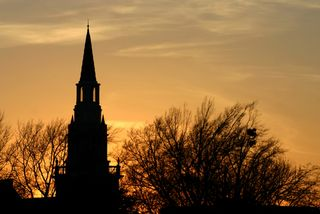 Church-steeple-at-sunset-in-oklahoma-ok007