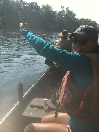 06-30-2012 - Ashley fishing Bull Shoals