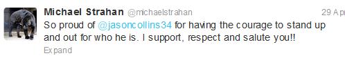 Tweet Strahan