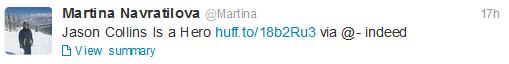 Tweet Martina